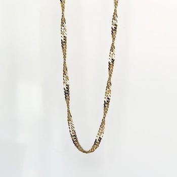 "Yellow Gold Singapore Chain (18"")"