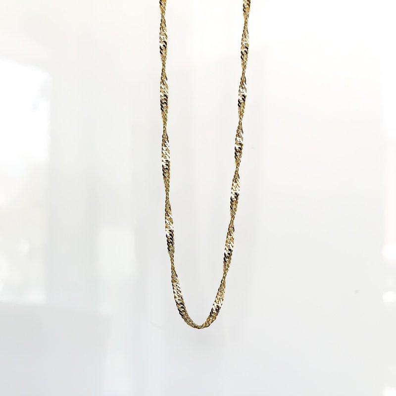 "Tecimer & Johns Yellow Gold Singapore Chain (18"")"