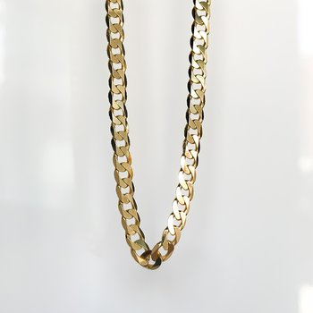 """Yellow Gold Open Link Chain (20"""")"""