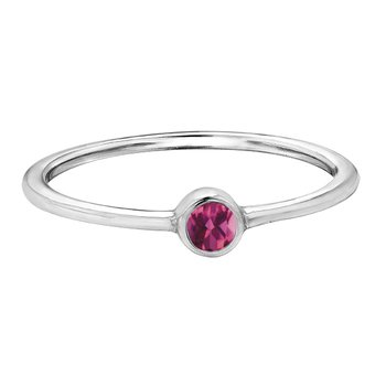Pink Topaz Stackable Ring