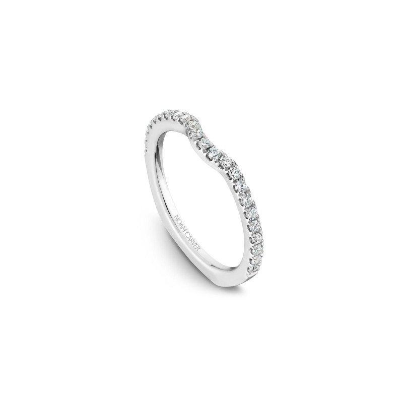 Noam Carver Curved Diamond Wedding Band