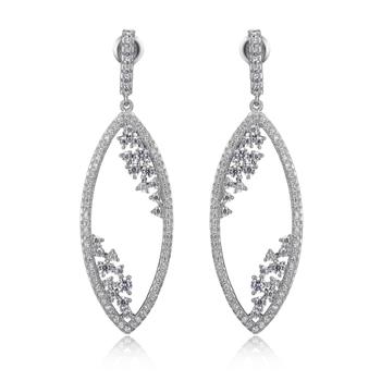 Marquise Shaped Drop Earrings