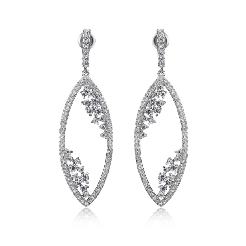 Reign Marquise Shaped Drop Earrings