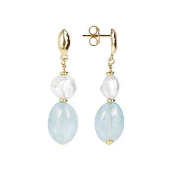 Pearl & Quartz Drop Earrings