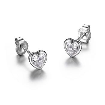 Heart Diamondlite Stud Earrings