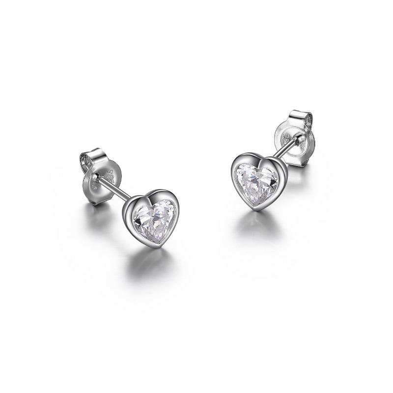 Reign Heart Diamondlite Stud Earrings