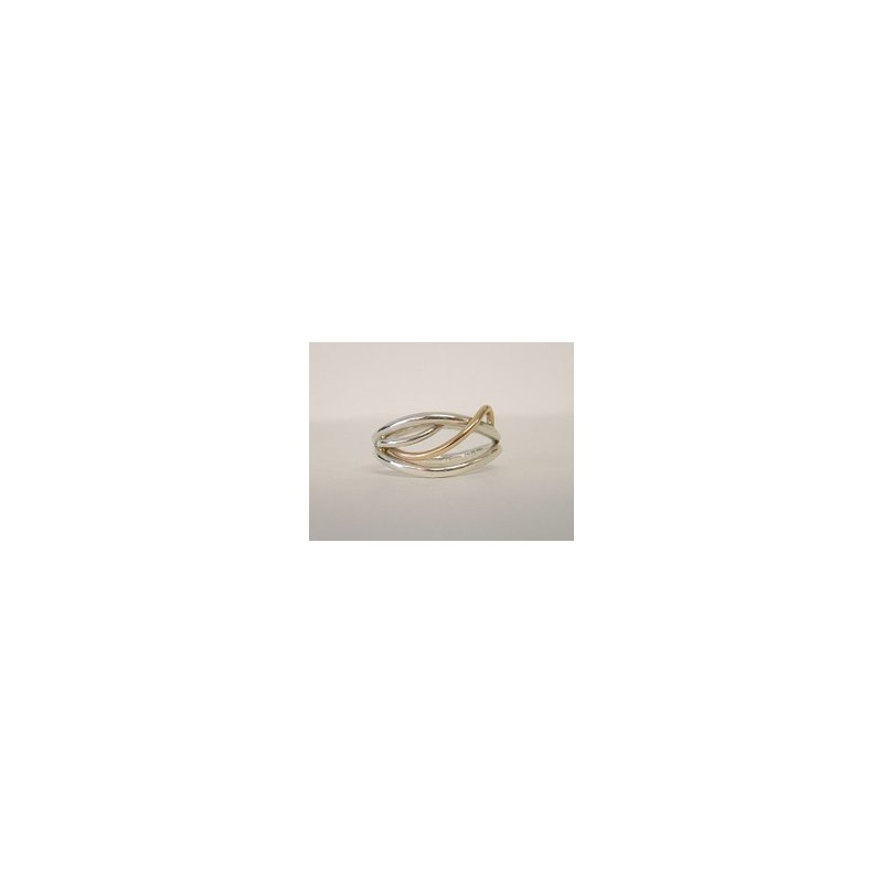 Constantine Designs Two-Tone Flame Ring