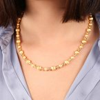 Etrusca Gioielli Satin Bead Necklace