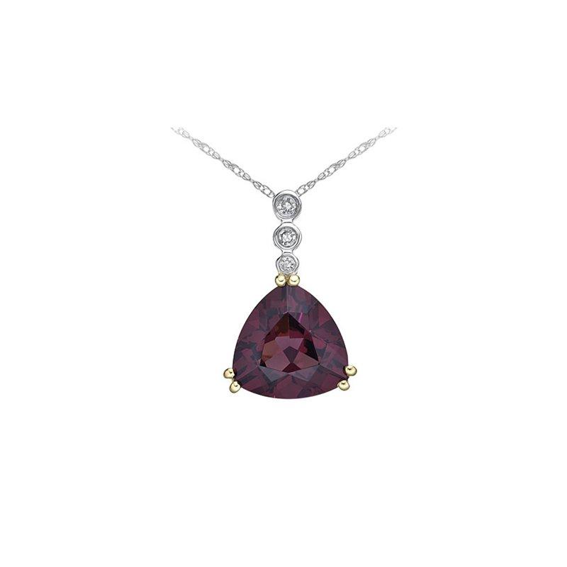 Karat Imports Rhodolite Garnet & Diamond Necklace