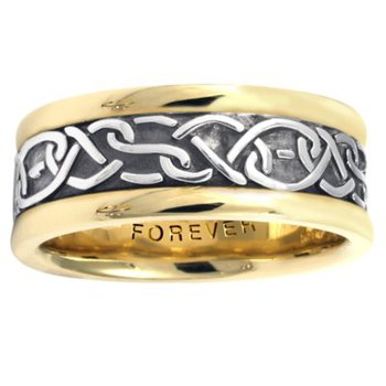 Celtic 'Double Heart' Wedding Band