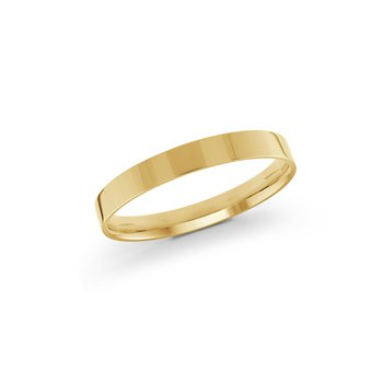 Gold Wedding Band (Pipe Cut 2mm-8mm)