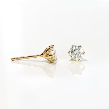 0.64CT TW Canadian Diamond Stud Earrings