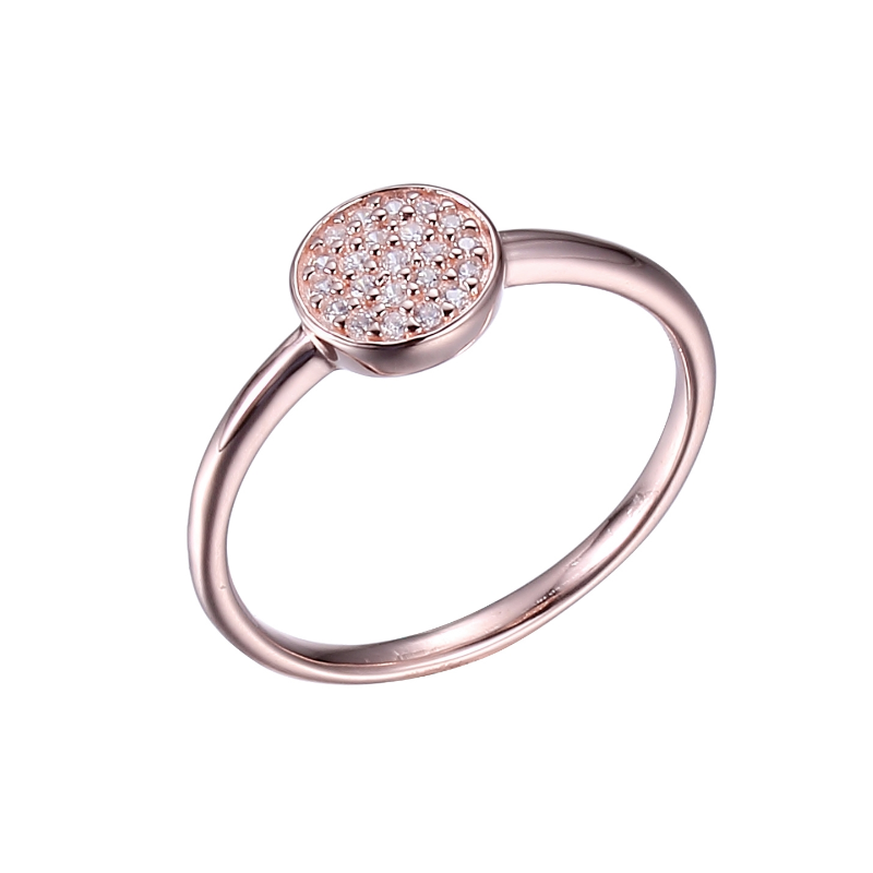 Reign Rose Gold Plated Pavé Ring