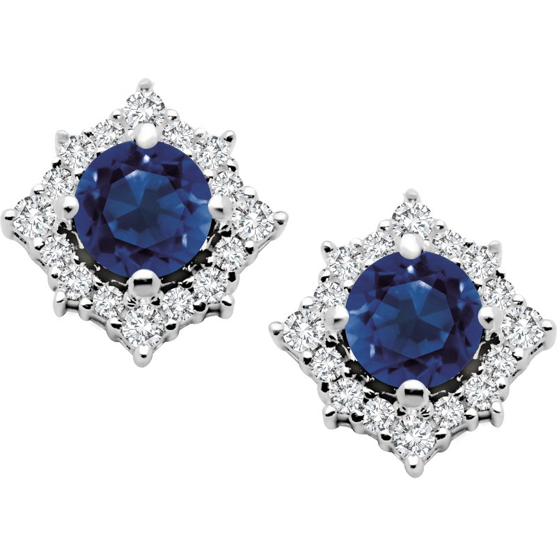 Corona Diamond & Sapphire Earrings