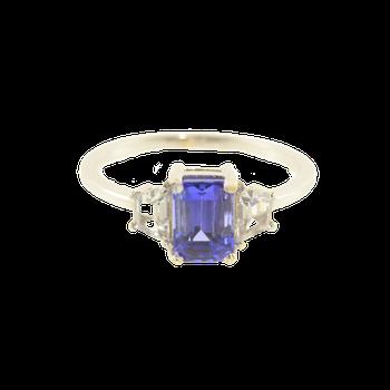 Tanzanite & White Sapphire Ring