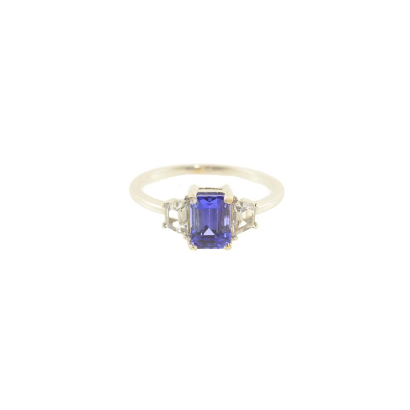 HJ Gemstone Collection Tanzanite & White Sapphire Ring