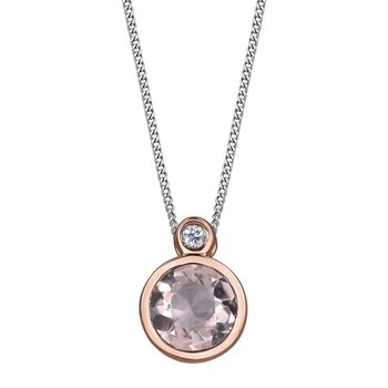 Morganite & Diamond Necklace