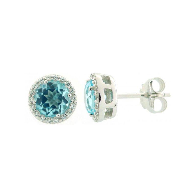 Larus Classic Blue Topaz Earrings
