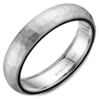 Black Carbon Accented Wedding Band
