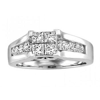 Multi-Stone Engagement Ring & Matching Band