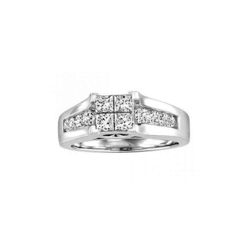 Forever Ice Multi-Stone Engagement Ring & Matching Band