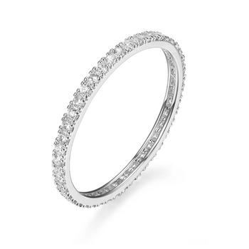 Sterling Silver & Cubic Zirconia Eternity Ring