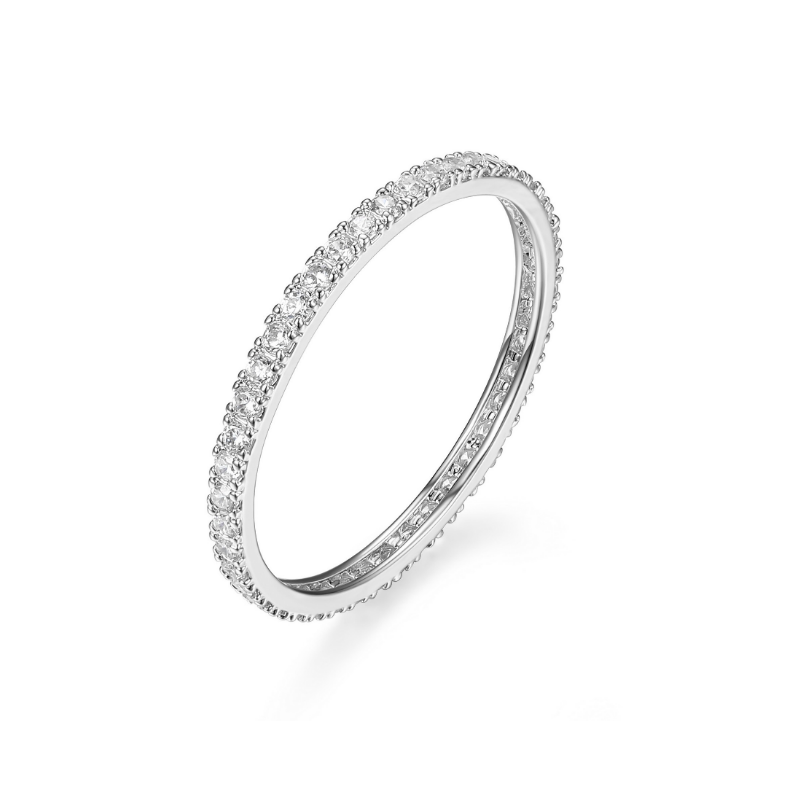 Reign Sterling Silver & Cubic Zirconia Eternity Ring