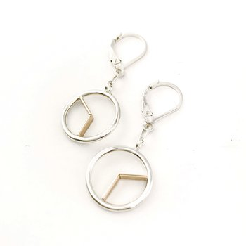 Two-Tone Time Drop Earrings
