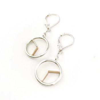 Two-Tone Time Drop Earrings