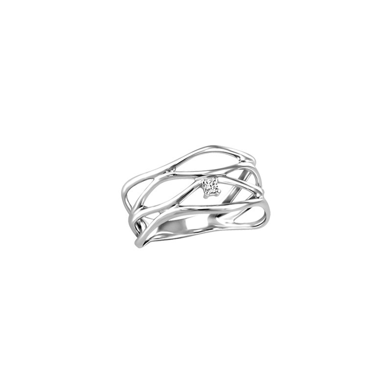 Fire and Ice Canadian Diamond Open Weave Ring
