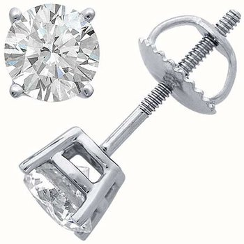 1.04CT TW Diamond Stud Earrings