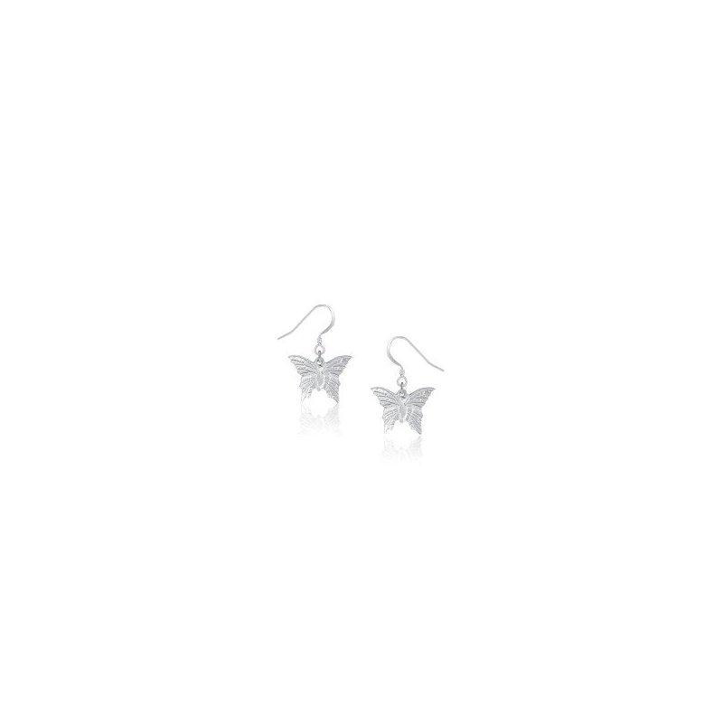 Amos Pewter Butterfly Earrings