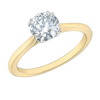 Round Brilliant Lab Grown Diamond Engagement Ring