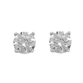 White Gold Cubic Zirconia Studs (5mm)