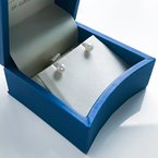 """HJ Pearl Collection 14KW """"A"""" Akoya Pearl Studs (5.5 - 6mm)"""
