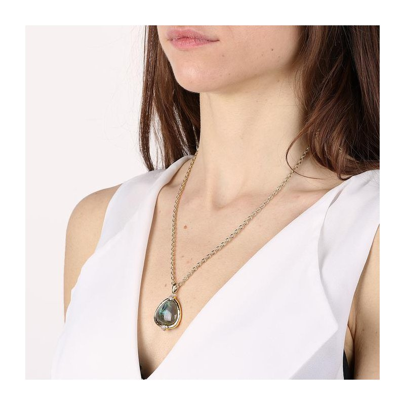 Etrusca Gioielli Long Labradorite Necklace
