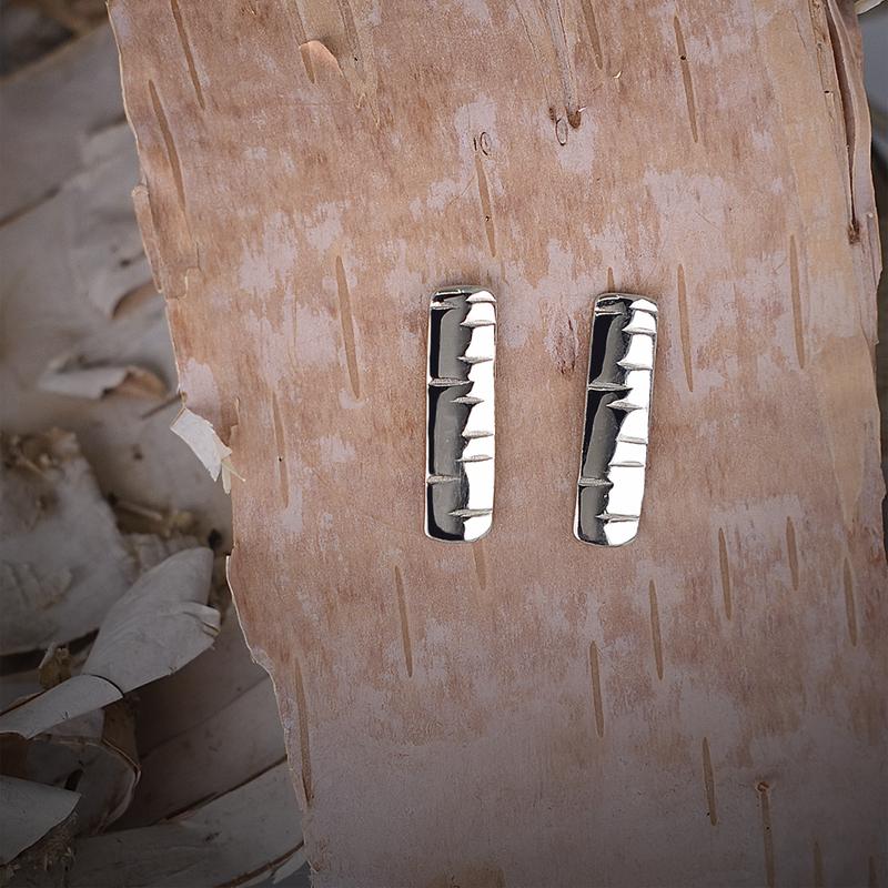 Sapling & Flint Birchbark Stud Earrings