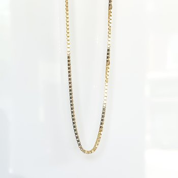 """Yellow Gold Box Link Chain (22"""")"""