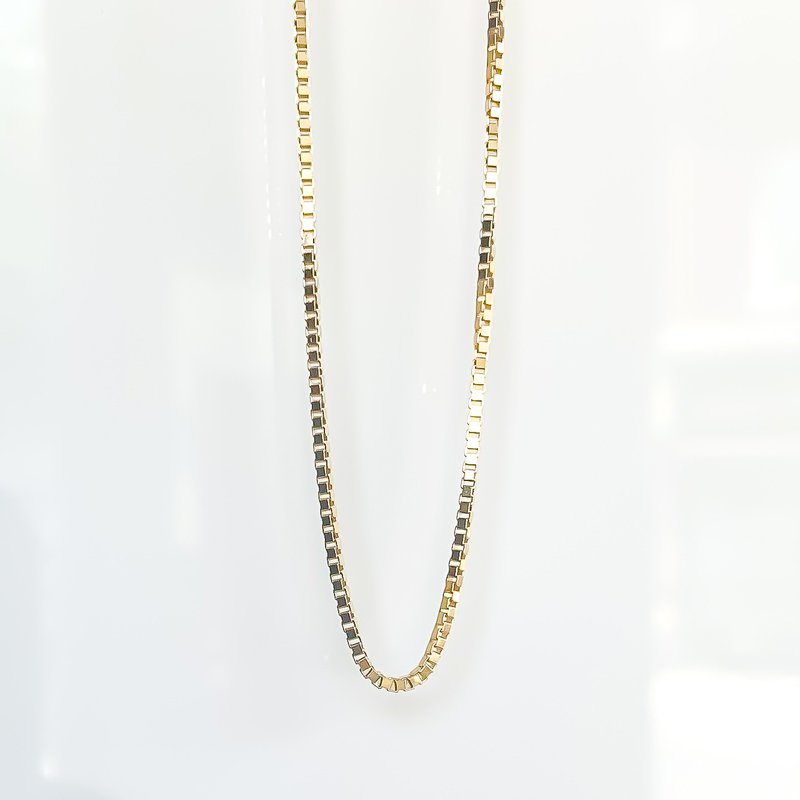 "Tecimer & Johns Yellow Gold Box Link Chain (22"")"