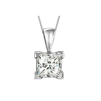Canadian Princess Cut Diamond Necklace