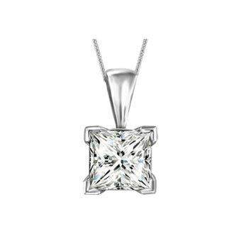 Canadian Princess Cut Diamond Necklace