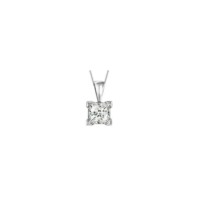Fire and Ice Canadian Princess Cut Diamond Necklace