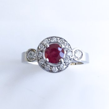 Custom Ruby & Diamond Ring