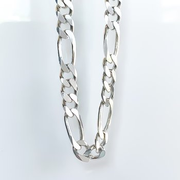 """Heavy Sterling Silver Figaro Chain (20"""")"""