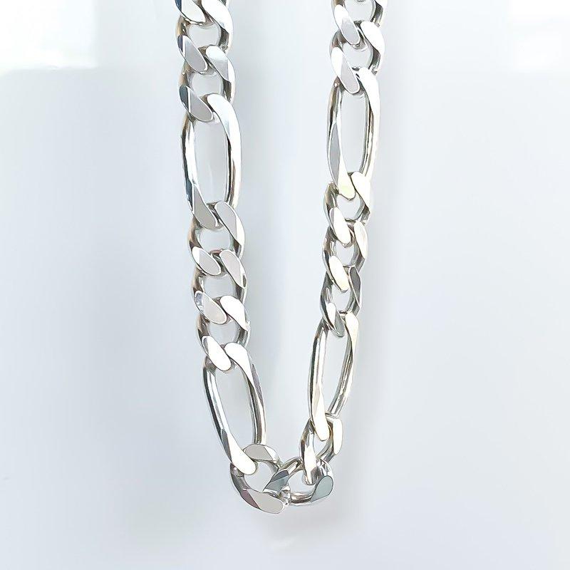 "Tecimer & Johns Heavy Sterling Silver Figaro Chain (20"")"