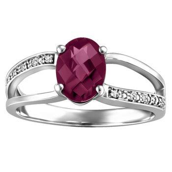 Forever Ice™ Rhodolite Garnet Ring