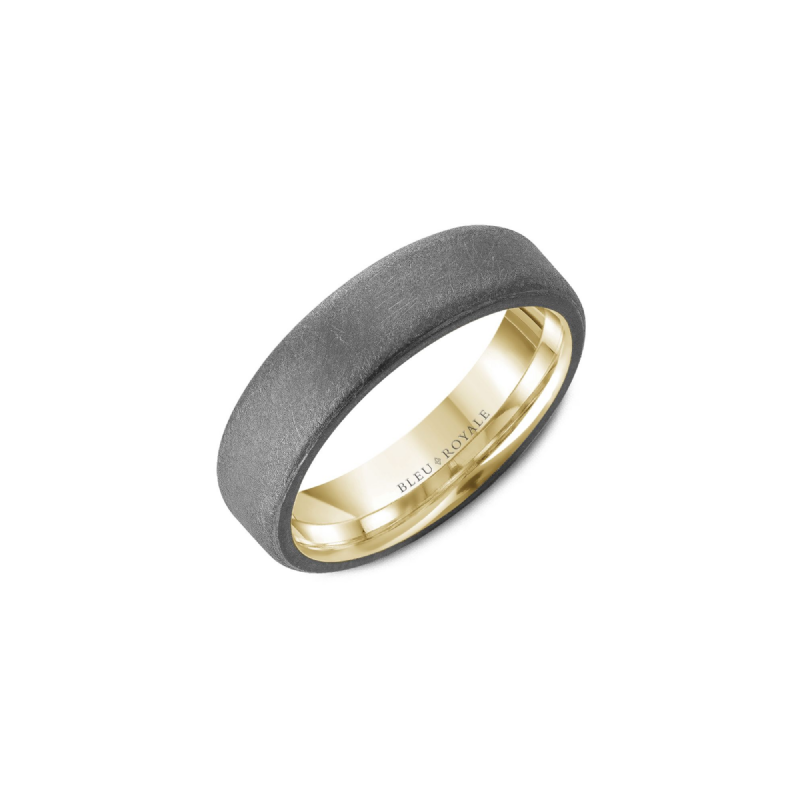 Bleu Royale Tantalum & Yellow Gold Wedding Band