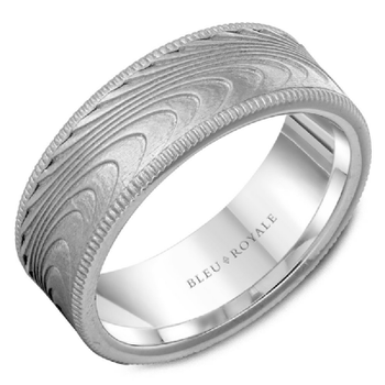 Wood Grain Style Wedding Band