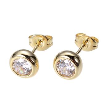 Yellow Gold Plated Diamondlite Stud Earrings