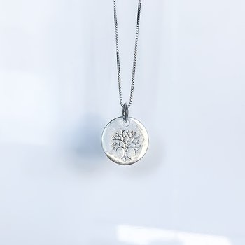 Dainty Tree of Life Disc Necklace